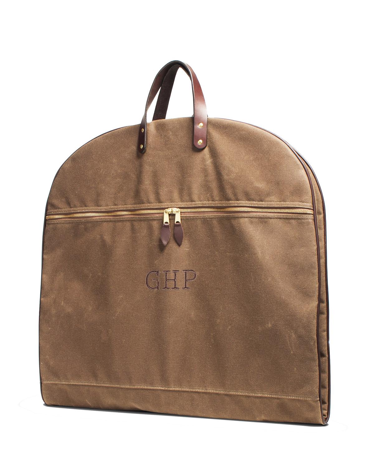 huntsman garment bag field tan
