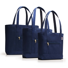 Barrier Island Shoulder Tote w/ Zipper Top - Solid Color